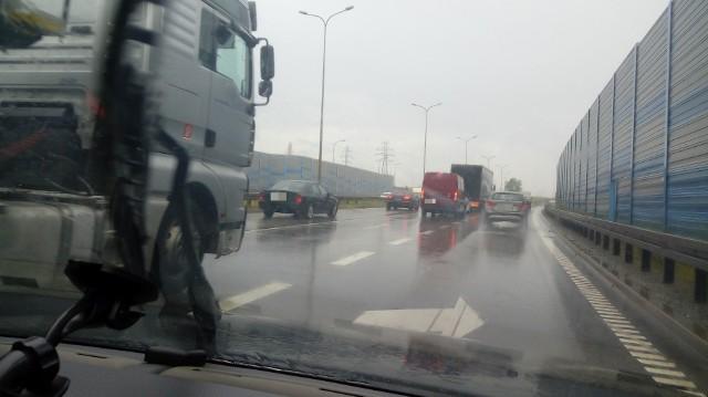Korek spowodowany pracami na Moście Wantowym w Gdańsku, poniedziałek 8.07.2019