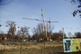 Rozbiórka dźwigu, który uniemożliwiał loty LPR do szpitala Narutowicza [ZDJĘCIA]