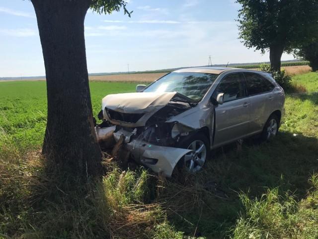 Na miejscu środowego wypadku w Kluczewsku w powiecie włoszczowskim