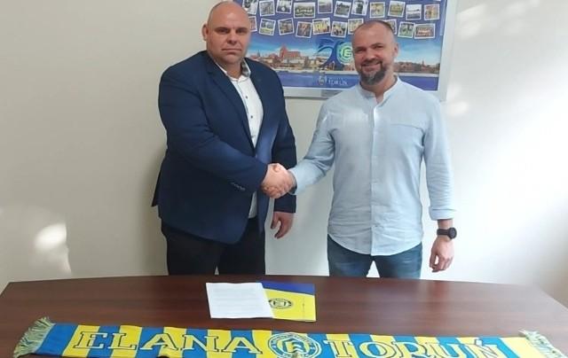 Prezes Maciej Chrzanowski i trener Maciej Kalkowski