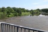 Zanieczyszczony staw na Olechówce. Na wodzie unosi się maź przypominająca skorupę. Co z kąpieliskiem na Stawach Jana?
