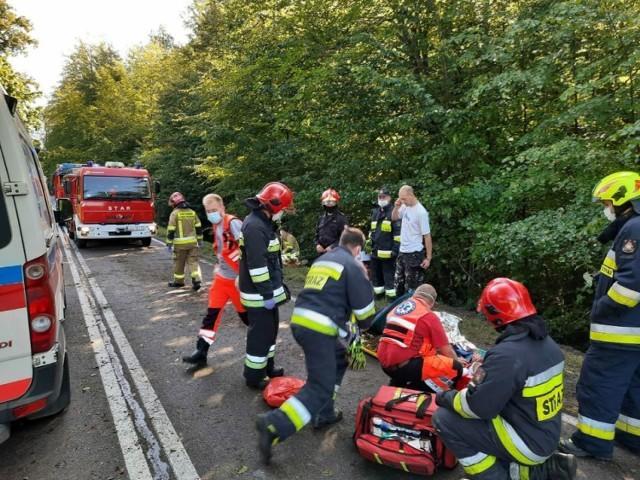 Wypadek w Kosach w gm. Kartuzy 21.09.2020 r.
