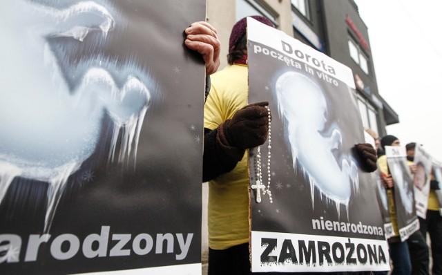 Protesty przeciwko metodzie in vitro odbywają się regularnie w całej Polsce