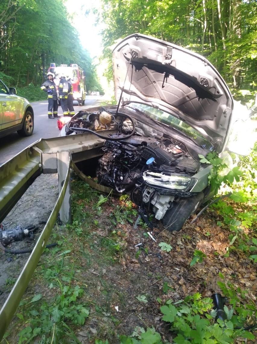 Wypadek w Jodłownie koło Przywidza 11.06.2021. Samochód...