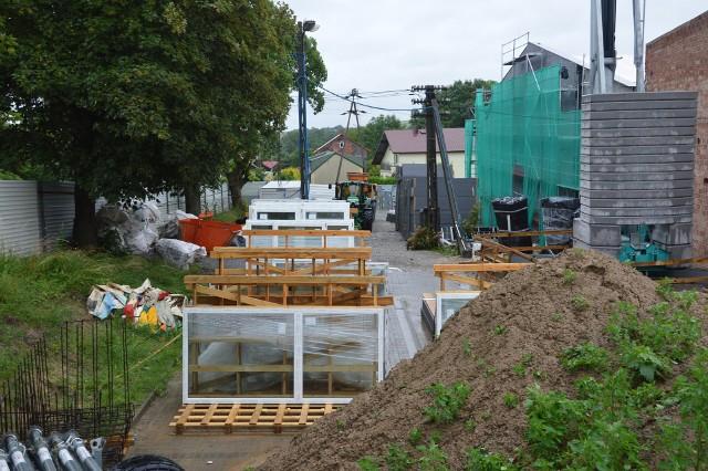 Plac budowy Centrum Rozwoju Społecznego w Pałecznicy