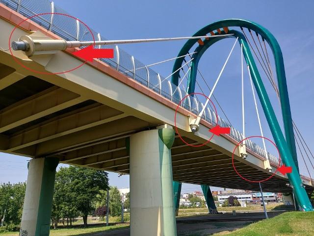 Na razie most jest zamknięty i zabezpieczony