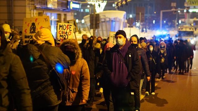 Protest kobiet w Białymstoku - 1 lutego 2021