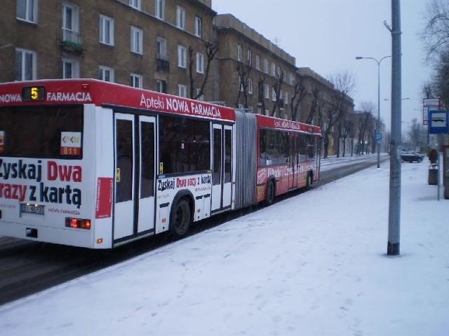 Śnieg na ulicach Białegostoku