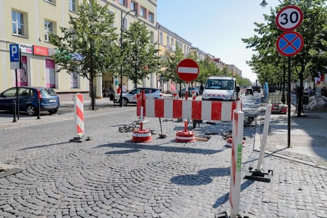 Sierpień 2020. Remonty ulic w Białymstoku