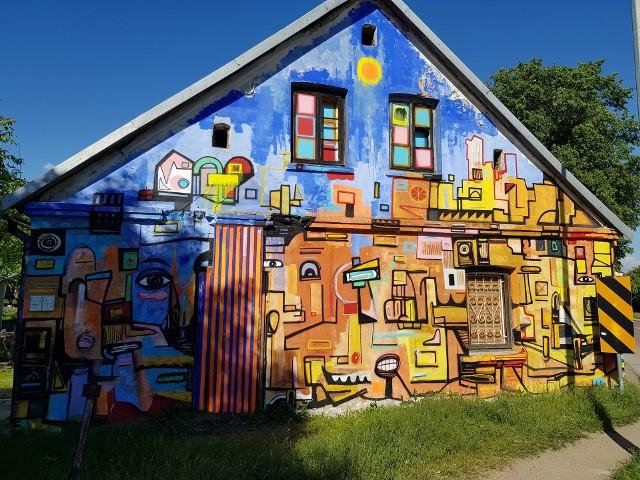 Mural na ulicy Podleśnej 21.