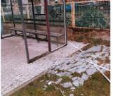 Wandalizm w Otyniu. Całkowicie zniszczony został przystanek autobusowy, z którego mieszkańcy gminy jadą do Bobrownik