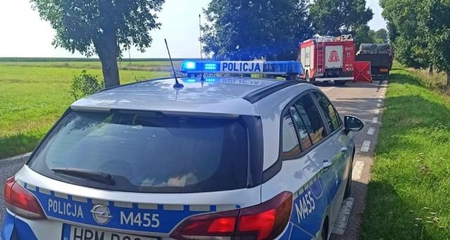 Stare Berezowo. Śmiertelny wypadek motocyklisty na trasie Bielsk Podlaski - Hajnówka