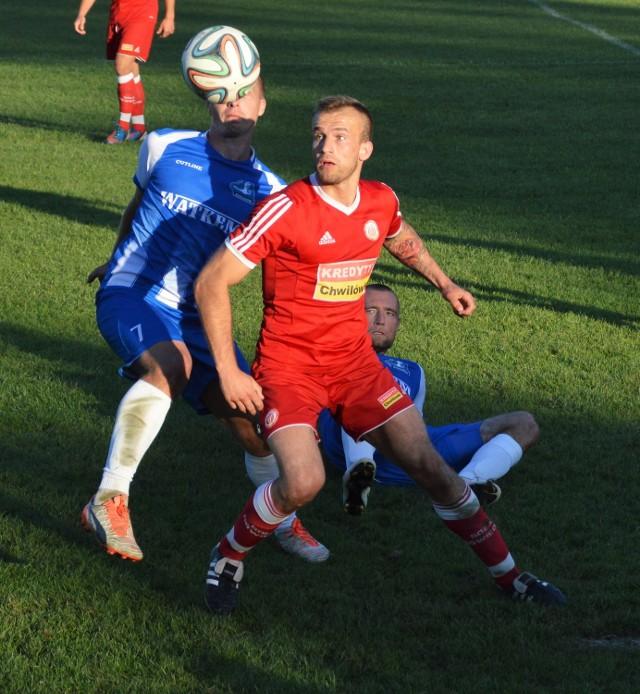 Wojciech Jamróz wypracował Mateuszowi Gleniowi najlepszą okazję do zdobycia przez Sołę zwycięskiej bramki.