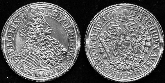 Srebrny talar cesarza Austrii Leopolda I
