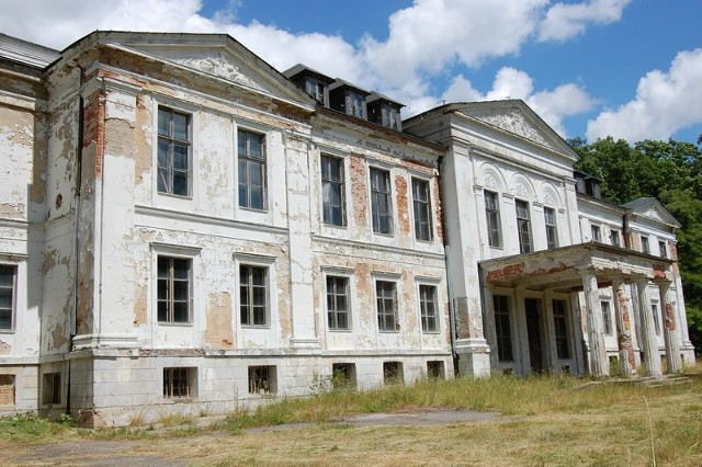 Pałac zbudowany został w początkach XVII wieku przez ówczesnego właściciela Piotra Bnińskiego. W kolejnych wiekach był przebudowywany i ozdabiany stając się wspaniałą rezydencją. Dziś - opustoszały - popada w coraz większą ruinę.