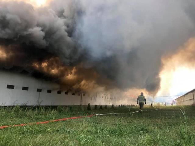 W akcji wzięło udział 20 zastępów straży pożarnej