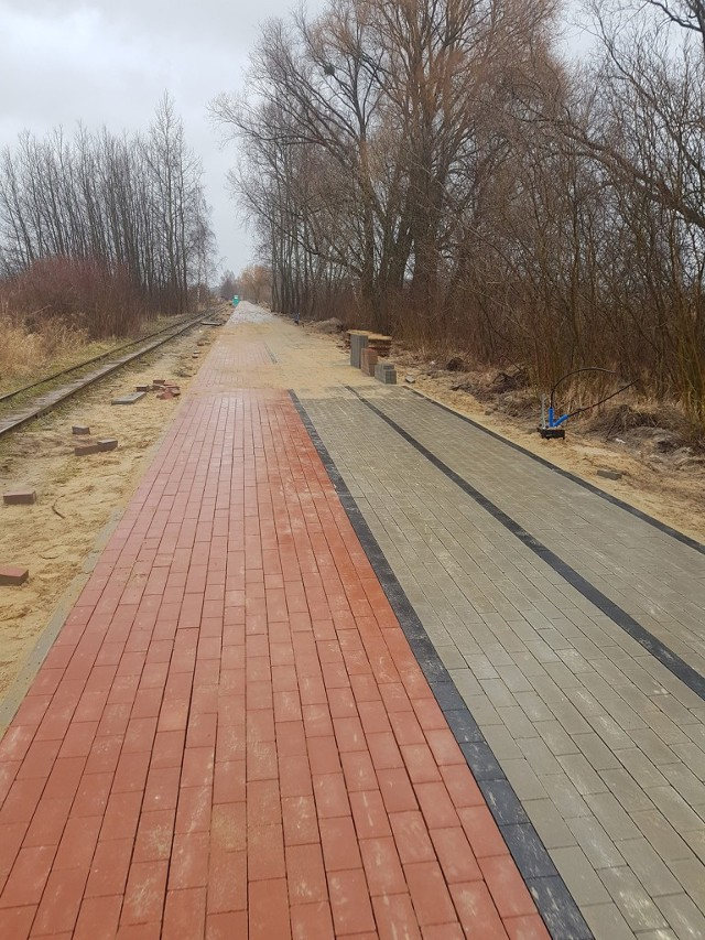 Prace przy budowie drogi trwały niespełna rok