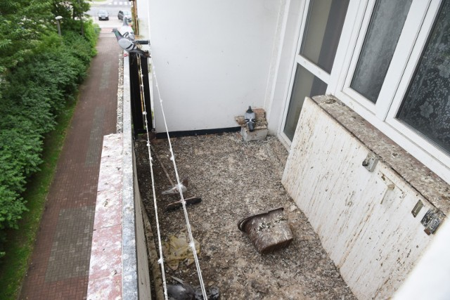 Tak wygląda opisywany w tekście balkon przy ul. Długiej w Toruniu.