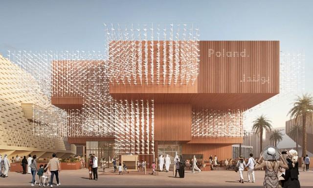 wizualizacja Pawilonu Polski podczas Expo 2020 Dubai
