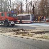 Pożar autobusu MZK w Jastrzębiu Zdroju. Kierowca ugasił autobus
