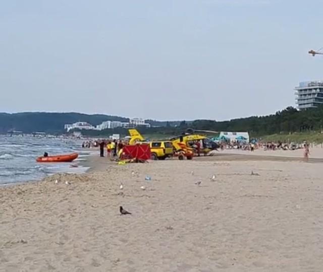 Dramat na plaży w Międzyzdrojach