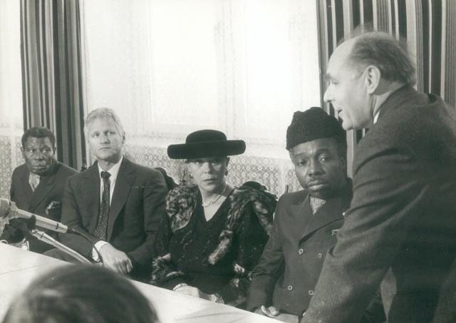 Wizyta króla Zairu w UMCS. Rok 1988