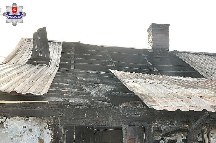 Gmina Puchaczów. Przez herbatę spalił dom, szopę i oborę ze zwierzętami
