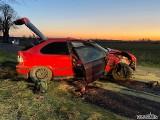 Dwie osoby poszkodowane w wypadkach w ciągu jednej nocy w powiecie sępoleńskim [zdjęcia]