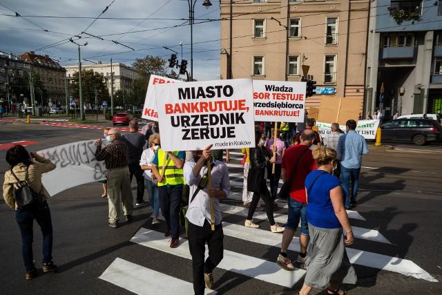 Protest mieszkańców Krakowa.