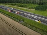 Wypadek na A1 w Rulewie (powiat świecki). Cztery osoby poszkodowane [zdjęcia]