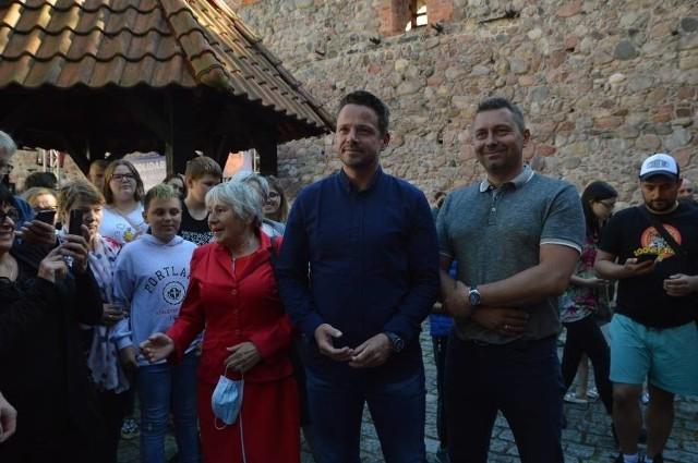 Rafał Trzaskowski w środę, 22 lipca spotkał się z mieszkańcami Bytowa