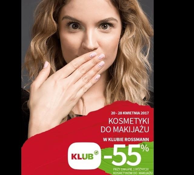 Rossmann promocje 2017 Kosmetyki kolorowe z 49-procentowym rabatem Promocje w Rossmannie