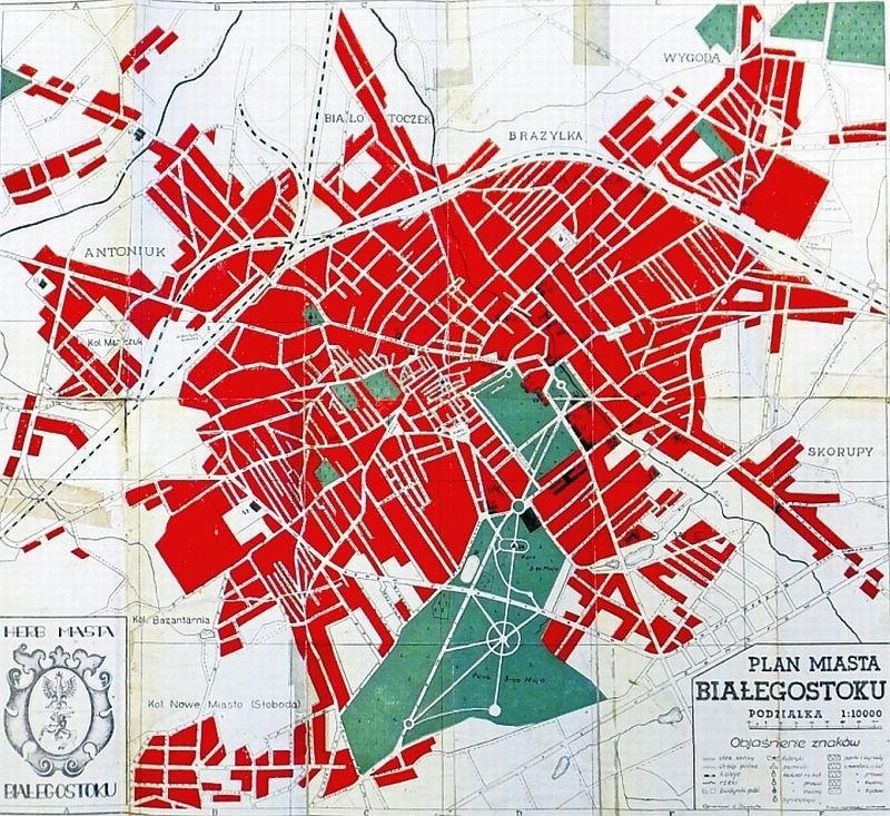 Na planie miasta z 1938 roku, który udostępnił nam (jak również zdjęcia obok) pan Tadeusz Chańko, z lewej strony jest Słoboda