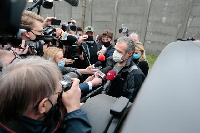 Sławomir Nowak opuszcza areszt śledczy, Warszawa, 12.04.2021 r.