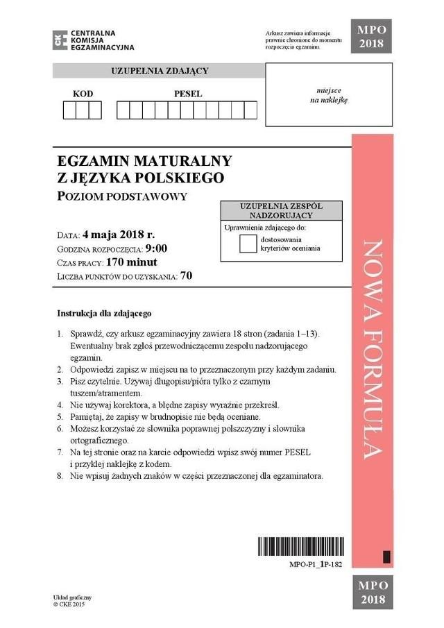 Matura 2019 z języka polskiego poziom podstawowy i rozszerzony [ARKUSZE CKE, ODPOWIEDZI, TEMATY] Przecieki z Facebooka i Twittera