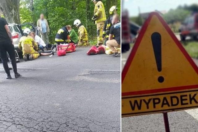 Wypadek w okolicy miejscowości Recz na drodze 151