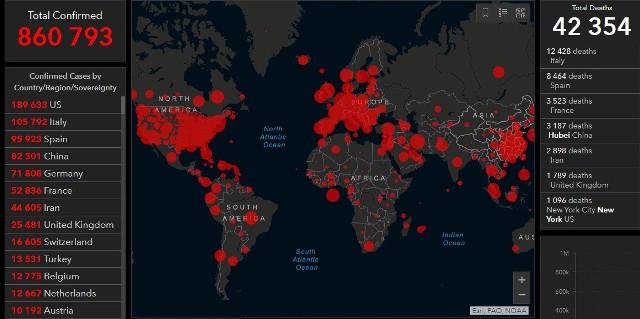 Coronavirus [MAPS, STATISTICS, DATA] 01.04.2020