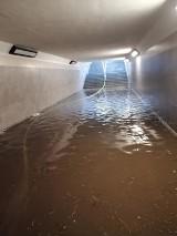Burza w gminie Prabuty 19.06.2020. Strażacy interweniowali przy wiatrołomach, zalanych piwnicach i przejściu podziemnym [ZDJĘCIA]
