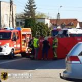 Śmiertelny wypadek w Czersku 11.05.2021. Samochód osobowy wjechał w rowerzystę