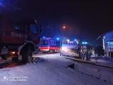 Pożar kotłowni w Golkowicach pod Wieliczką. Jedna osoba trafiła do szpitala