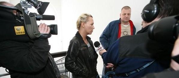 Renata Jankowska tuż przed rozprawą. Pani Renata zgodziła się na opublikowanie swojego wizerunku