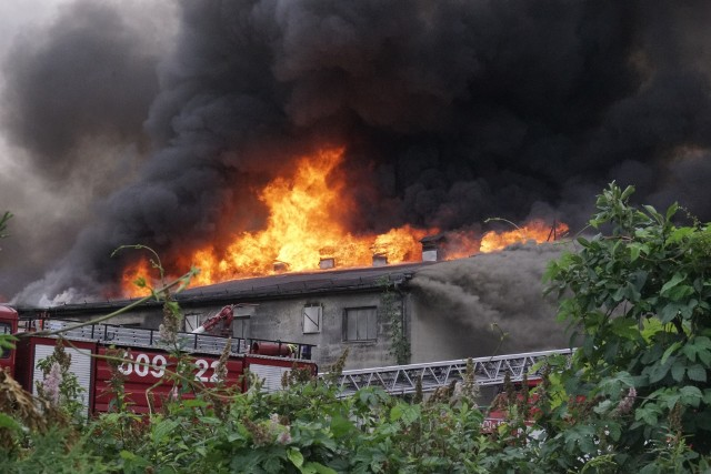 We wtorek wybuchł pożar na terenie spółdzielni rolniczej w Niesłabinie pod Śremem. Z ogniem walczyło kilkanaście jednostek strażaków.