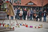 Mieszkańcy Świecia pożegnali prezydenta Adamowicza na Dużym Rynku