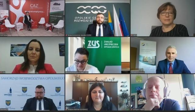 Opolskie forum zawodowe online zorganizowane przez WUP w Opolu.