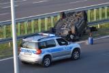 Wypadek w Szydłowcu. Trasa S7 była nad ranem zablokowana. Dwie osoby trafiły do szpitala na obserwacje