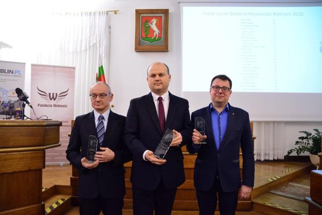 Liderzy rankingu (od lewej): Stanisław Brzozowski, Piotr Popiel, Marcin Nowak