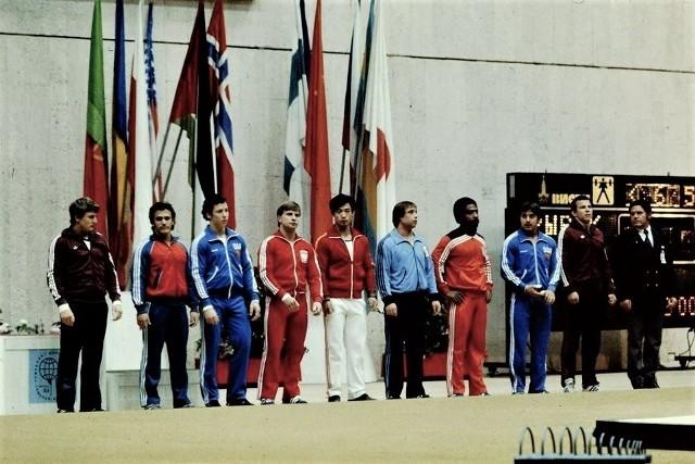 Mirosław Chlebosz (czwarty z lewej) podczas ME w Moskwie w 1983 roku