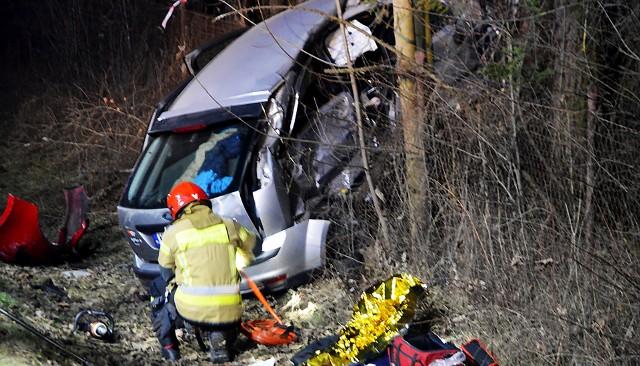 Tragiczny wypadek na DK 87 w Starym Sączu
