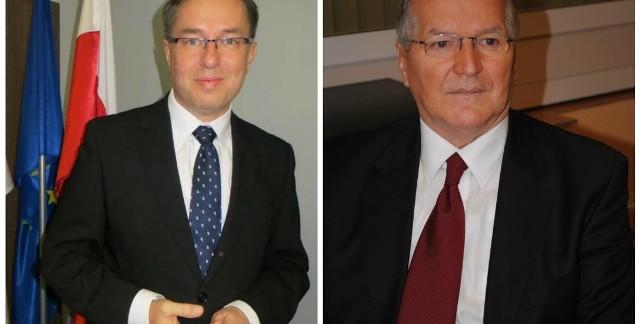 Jeśłi zmiany proponowane przez PiS wejdą w życie, w kolejnych wyborach nie będa mogli wystartować prezydent Piły Piotr Głowski (z lewej) oraz prezydent Konina Józef Nowicki