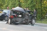 Wypadek w Porębie. Trzy osoby trafiły do szpitala [ZDJĘCIA]